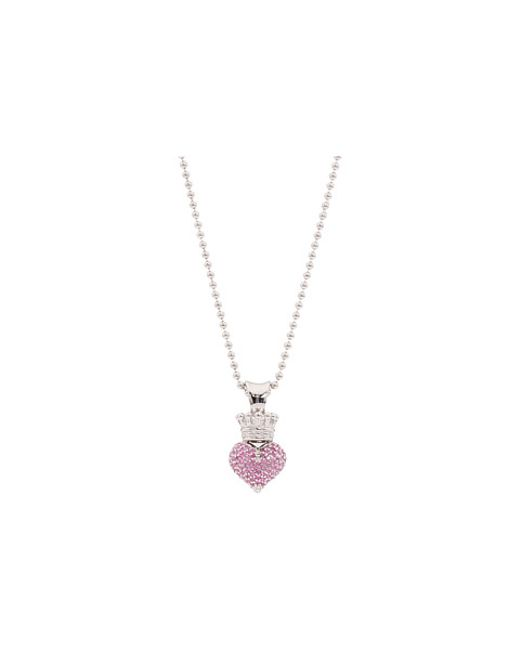 King Baby Studio | Small 3d Pink Cz Pavé Crowned Heart | Lyst