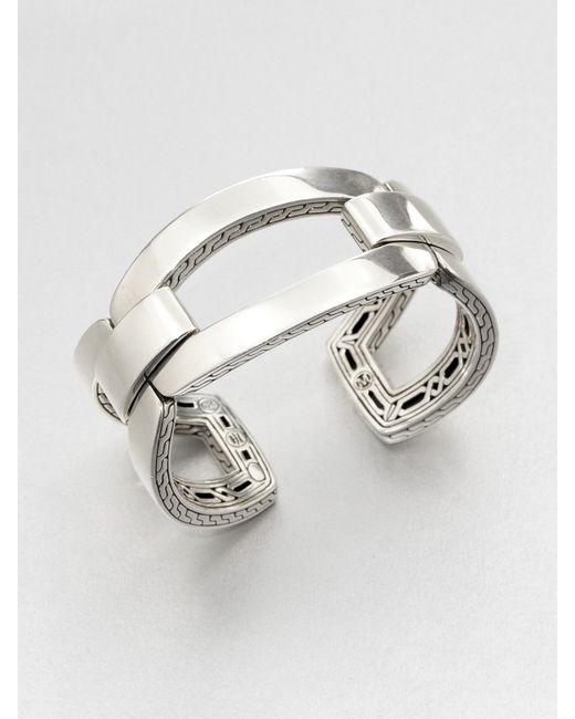 John Hardy | Metallic Classic Chain Sterling Silver Link Cuff Bracelet | Lyst