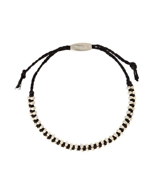 Paul Smith | Black Double Silver Bead Bracelet for Men | Lyst