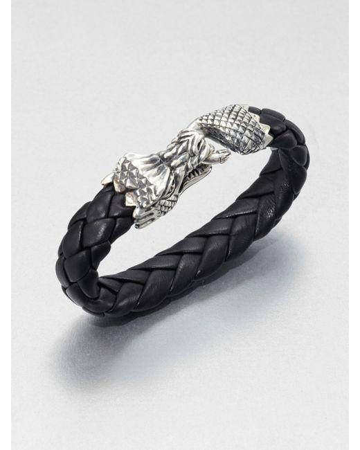 King Baby Studio   Black Leather Bracelet for Men   Lyst
