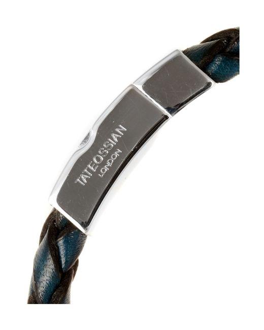 Tateossian | Blue Woven Bracelet for Men | Lyst