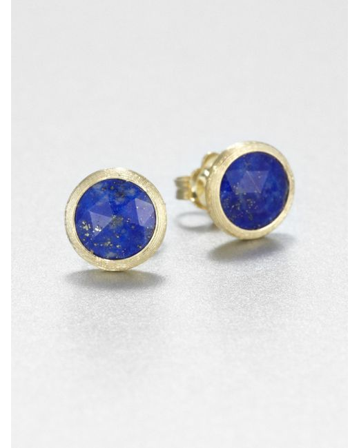 Marco Bicego | Metallic Jaipur Resort Lapis & 18k Yellow Gold Stud Earrings | Lyst