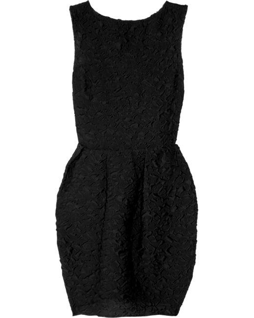 Lanvin   Black Wool and Silkblend Cloque Dress   Lyst