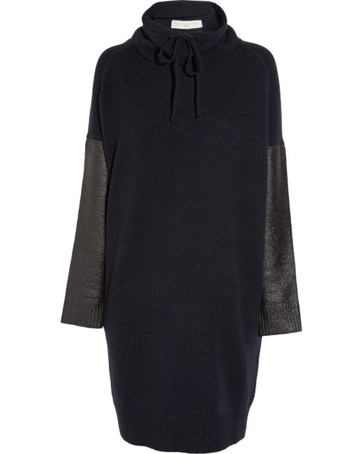 Stella McCartney | Blue Dran Fleece Wool-blend Sweater Dress | Lyst