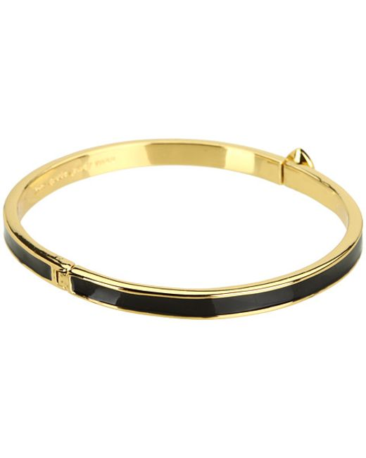Kate Spade | Black Spade Thin Hinge Bangle | Lyst