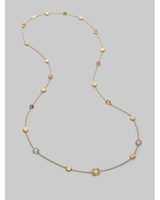 Marco Bicego | Metallic Africa 18k Yellow Gold Long Ball Necklace | Lyst