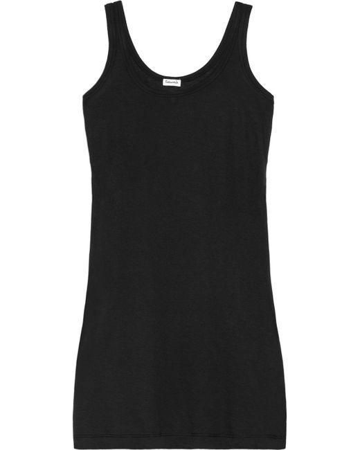 Splendid | Black Cotton And Modal-blend Jersey Tank | Lyst