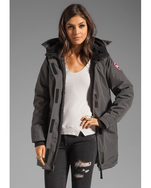 Canada Goose shop - Canada goose Victoria Parka With Coyote Fur Trim in Gray (graphite ...