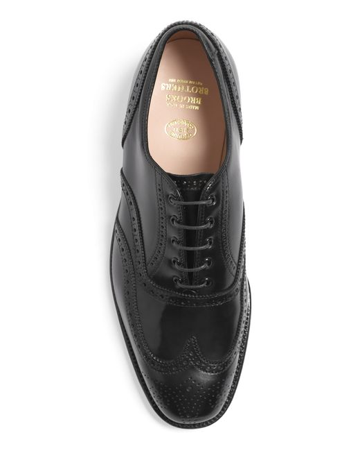 Brooks Brothers | Black Cordovan Leather Wingtips for Men | Lyst