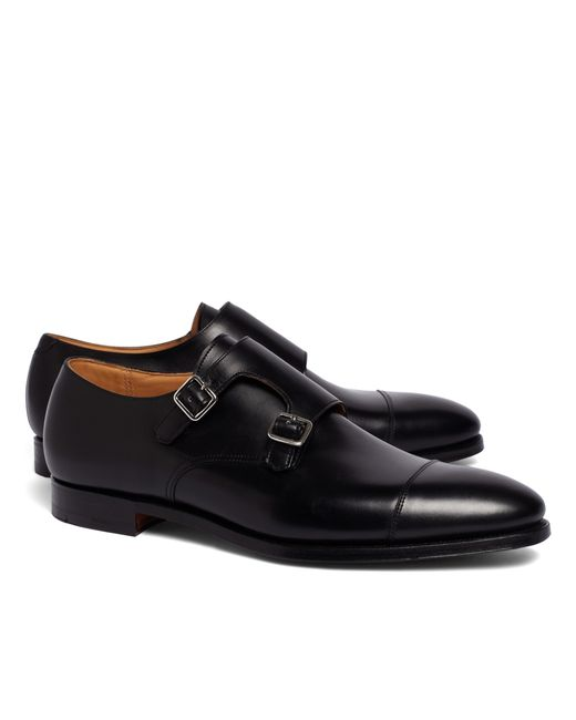 Brooks Brothers | Black Peal & Co.® Double Monk Strap Shoes for Men | Lyst