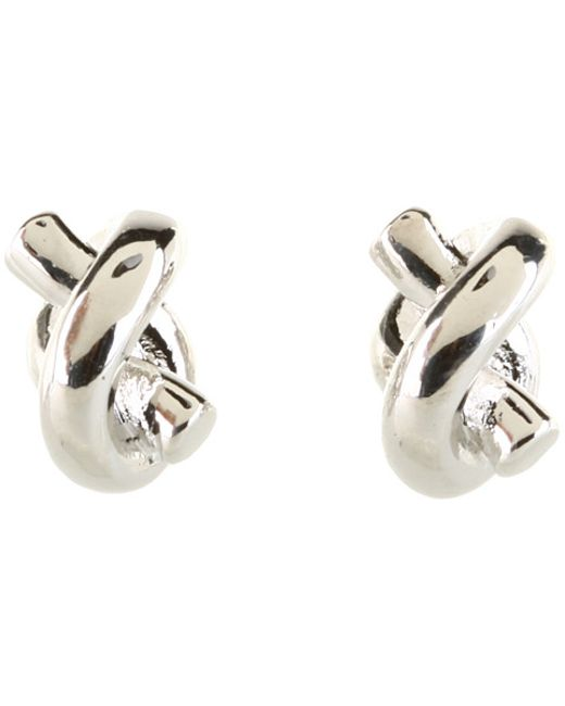 kate spade sailor knot earrings kate spade sailor s knot stud earrings in silver lyst 4801