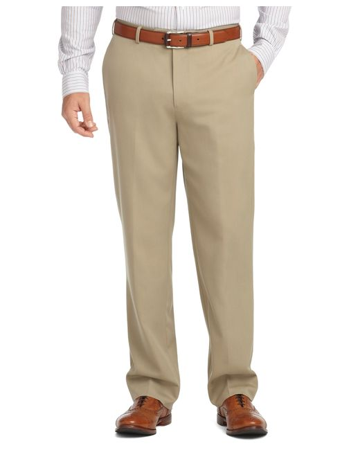 Brooks Brothers | Brown Madison Fit Plain-front Unfinished Gabardine Trousers for Men | Lyst