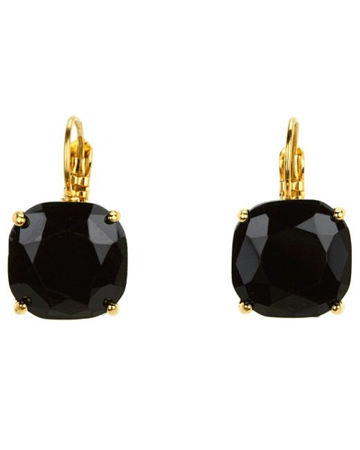 Kate Spade | Black Small Square Leverbacks | Lyst