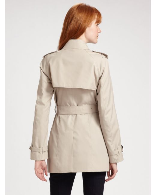 Burberry | Natural Mottram Double Breasted Trenchcoat | Lyst