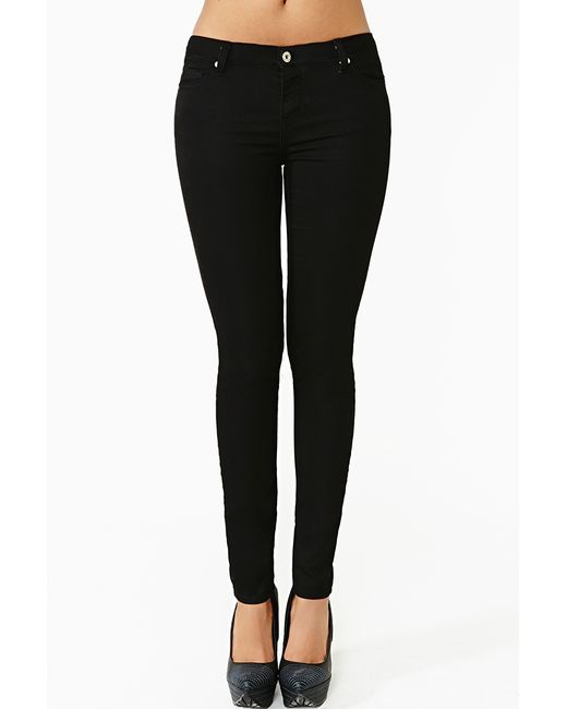 Nasty Gal | Black Aline Distressed High-rise Jeans | Lyst