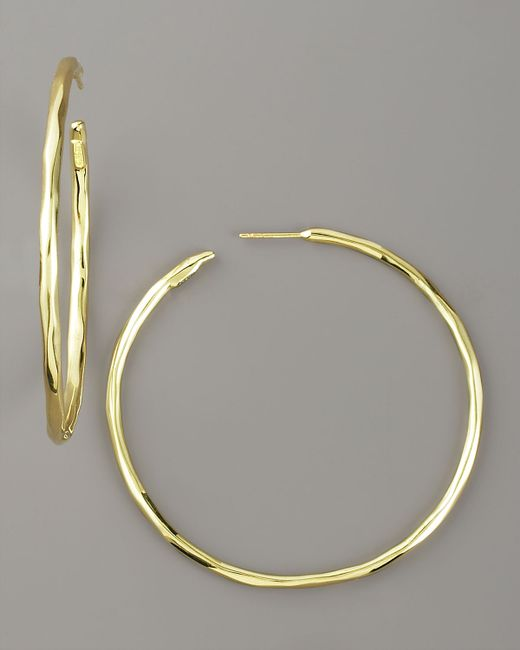 Ippolita | Metallic Thin Glamazon Hoop Earrings | Lyst