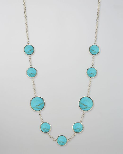 Ippolita | Blue Turquoise Slice Necklace | Lyst
