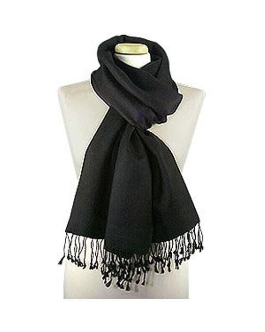 FORZIERI | Black Pashmina & Silk Shawl | Lyst