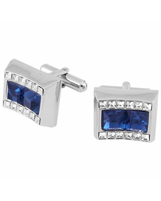 FORZIERI | Blue Square Stone Cufflinks for Men | Lyst