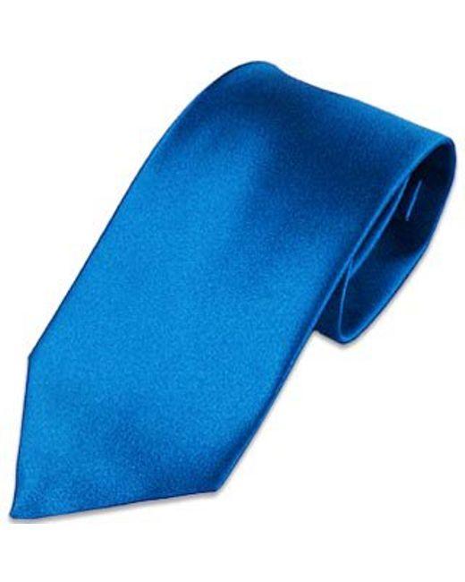 FORZIERI   Blue Solid Silk Tie for Men   Lyst