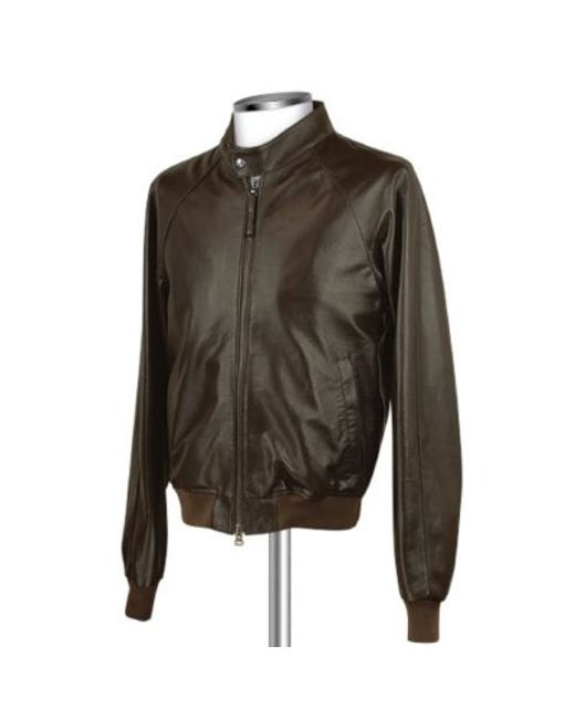 FORZIERI | Men's Dark Brown Italian Genuine Leather Bomber Jacket for Men | Lyst