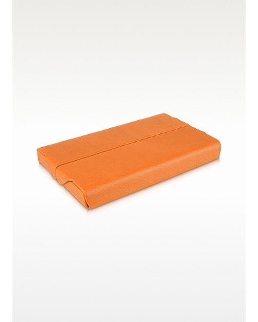 Giorgio fedon orange business card holder in orange for for Orange business card holder