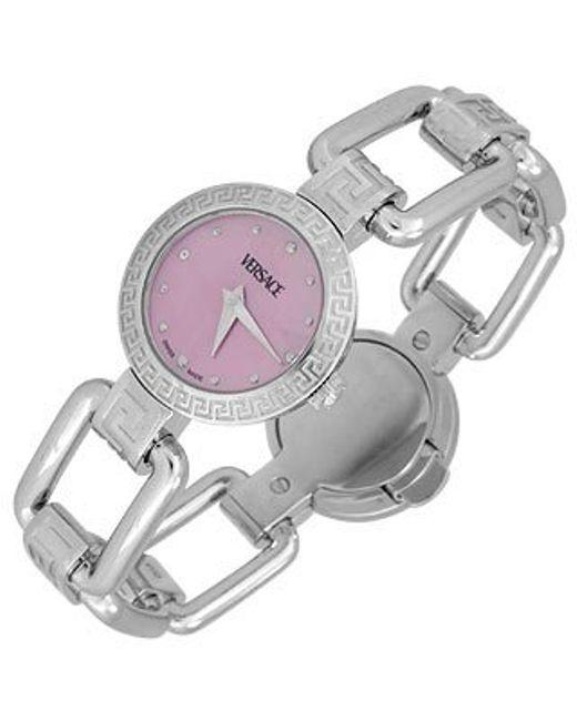 Versace | Gray Corniche - Ladies' Stainless Steel Watch | Lyst