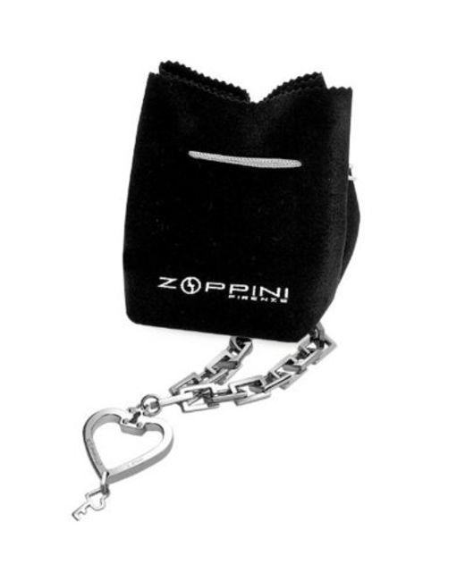 Zoppini | Gray Stainless Steel Heart & Key Charm Bracelet | Lyst