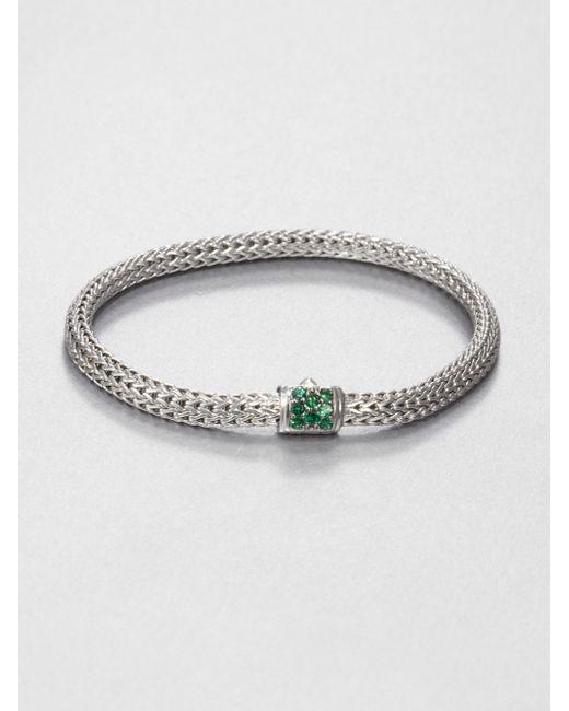 John Hardy | Metallic Classic Chain Tsavorite & Sterling Silver Extra-small Bracelet for Men | Lyst