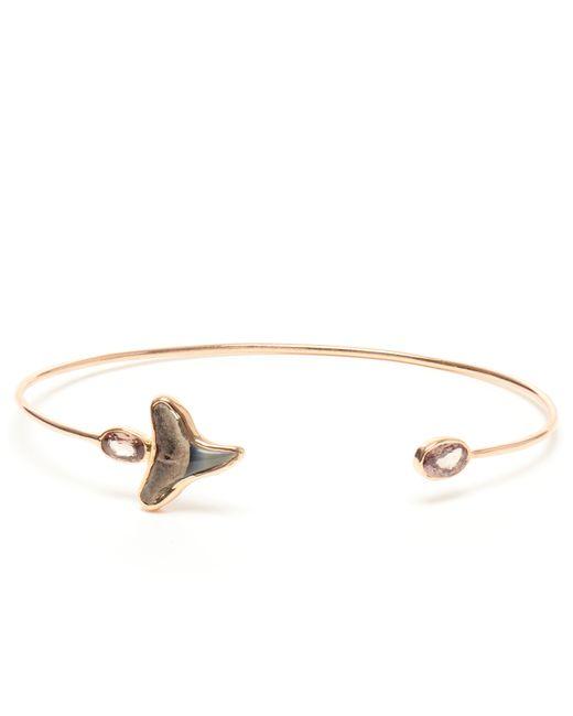 Dezso by Sara Beltran | Metallic 18k Rose Gold Fossilised Shark Tooth & Garnet Cuff | Lyst