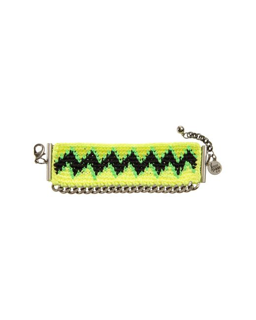 Venessa Arizaga | Green Charlie Crochet Woven Cuff | Lyst