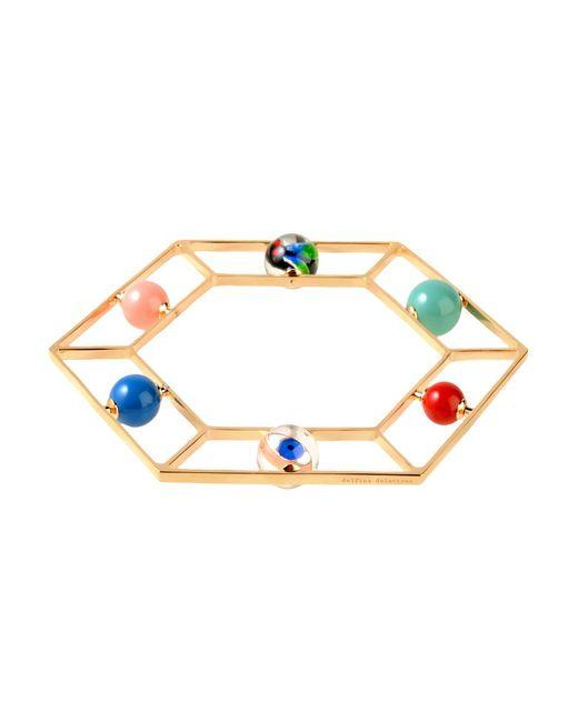 Delfina Delettrez | Metallic Gold-Plated Stone Bracelet | Lyst