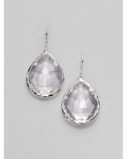 Ippolita | Metallic Rock Candy Clear Quartz & Sterling Silver Large Teardrop Earrings | Lyst