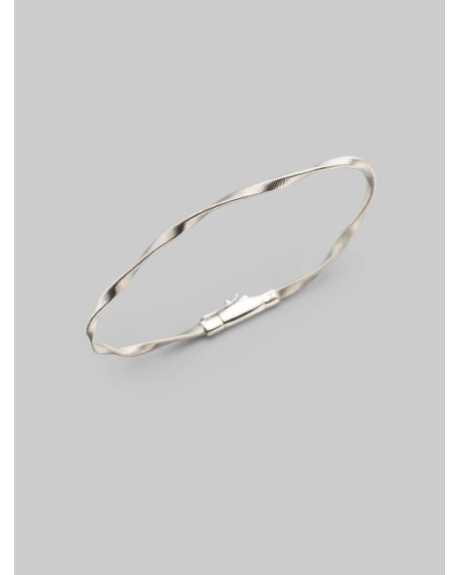Marco Bicego | Metallic Marrakech 18k White Gold Twisted Strand Bracelet | Lyst