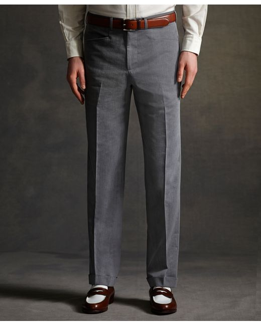 Brooks Brothers The Great Gatsby Collection Grey Cotton