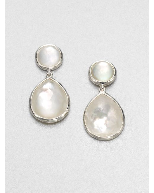 Ippolita | White Wonderland Mother-of-pearl, Clear Quartz & Sterling Silver Snowman Doublet Drop Earrings | Lyst