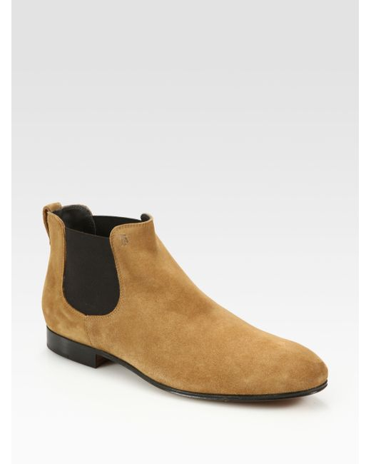 Tod's | Brown Suede Chelsea Boots for Men | Lyst