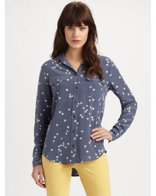 Equipment | White Starry Night Slim Signature Shirt | Lyst