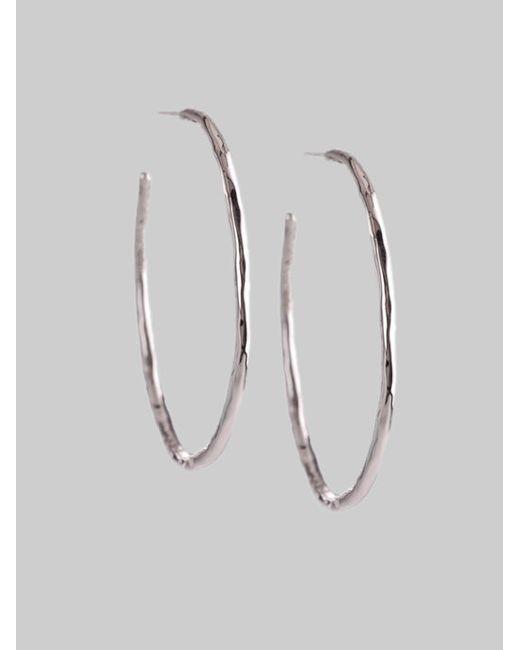 Ippolita   Metallic Glamazon Sterling Silver Squiggle #3 Hoop Earrings/1.7 for Men   Lyst