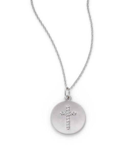 KC Designs   White Topaz Pave Necklace   Lyst
