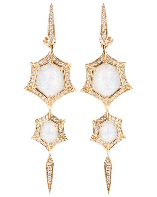 Stephen Webster | Metallic 'crystal Haze' Quartz And Diamond Drop Earrings | Lyst
