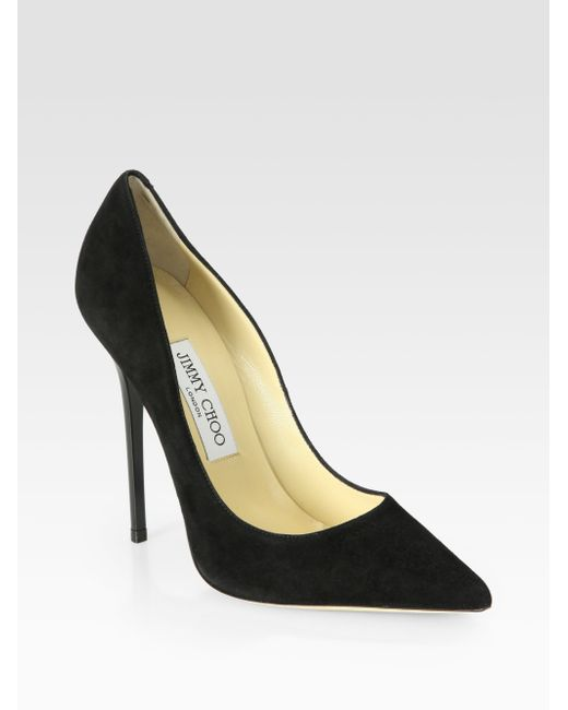Jimmy Choo | Black Anouk Suede Pumps | Lyst