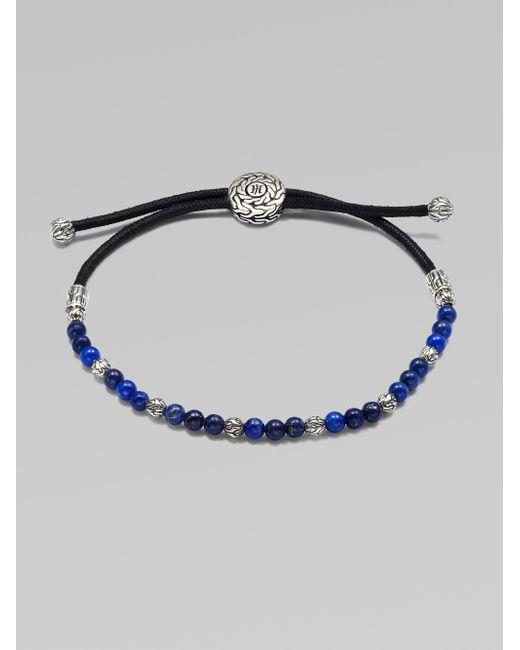 John Hardy | Metallic Beaded Cord Bracelet | Lyst
