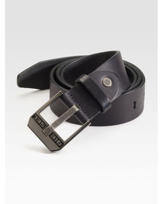 DIESEL | Black Leather Belt for Men | Lyst