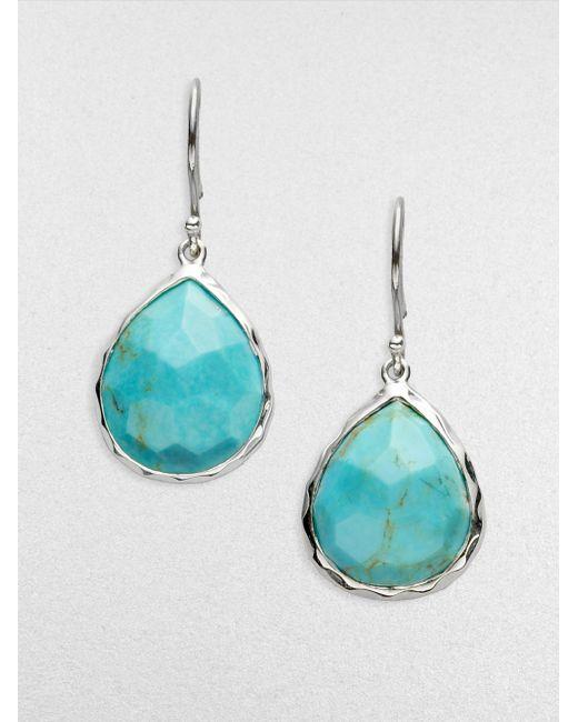 Ippolita | Metallic Rock Candy Turquoise & Sterling Silver Mini Teardrop Earrings | Lyst