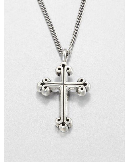 King Baby Studio | Metallic Traditional Cross Pendant Neclace for Men | Lyst
