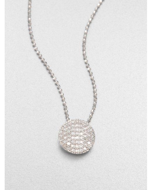 Phillips House | 14k White Gold & Diamond Mini Infinity Pendant Necklace | Lyst
