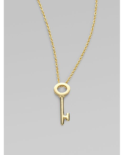 Roberto Coin   Metallic Tiny Treasures 18k Yellow Gold Key Pendant Necklace   Lyst