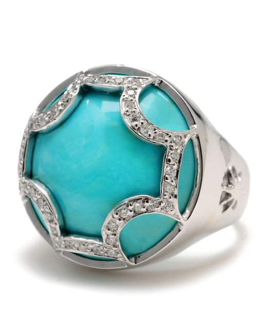 Elizabeth Showers | Blue Turquoise Maltese Ring | Lyst