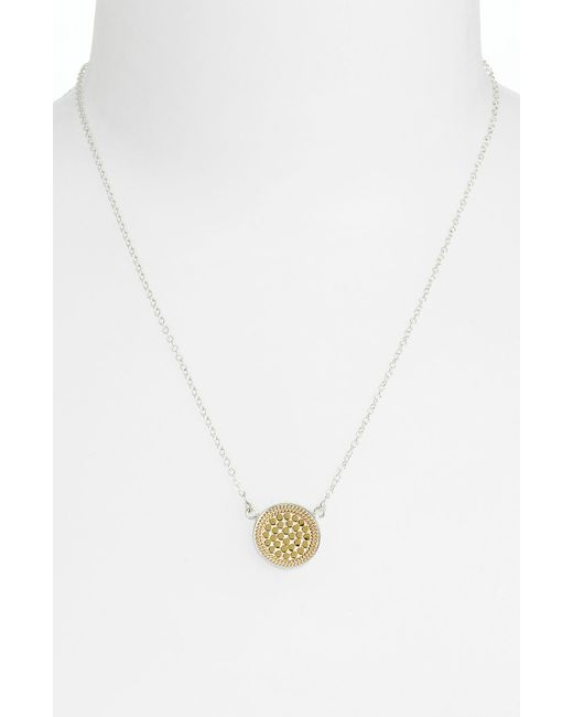 Anna Beck | Metallic 'gili' Reversible Disc Pendant Necklace | Lyst